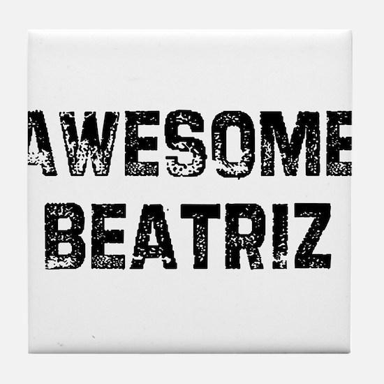 Awesome Beatriz Tile Coaster