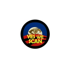 Yes We Scan Obama Eye Mini Button