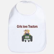 Girls love Tractors Bib