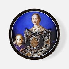 Bronzino - Eleonora di Toledo Wall Clock