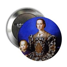 """Bronzino - Eleonora di Toledo 2.25"""" Button"""