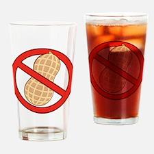 STOP. NO PEANUTS. PEANUT ALLERGIES Drinking Glass