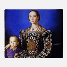 Bronzino - Eleonora di Toledo Throw Blanket