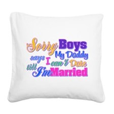 Sorry Boys Square Canvas Pillow