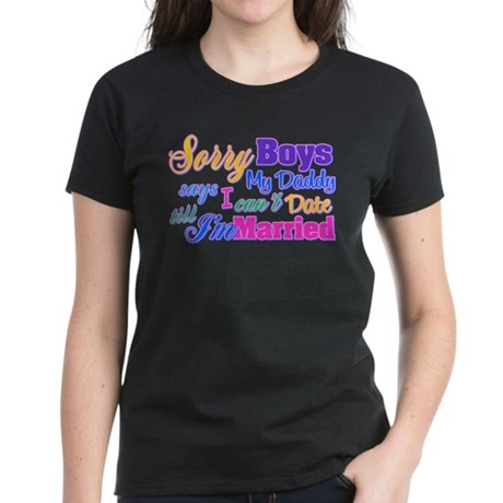 Sorry Boys Women's Dark T-Shirt