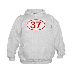 Number 37 Oval Hoodie