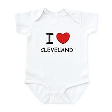 I love Cleveland Infant Bodysuit