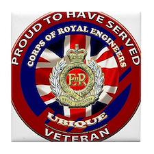 proud to be a royal engineer veteran Tile Coaster