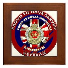 proud to be a royal engineer veteran Framed Tile