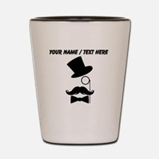Personalized Mustache Face With Monocle Shot Glass