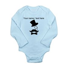 Personalized Mustache Face With Monocle Body Suit