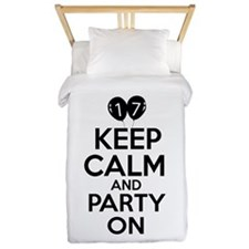 17 , Keep Calm And Party On Twin Duvet