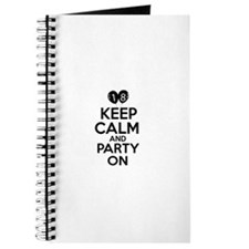 18 , Keep Calm And Party On Journal