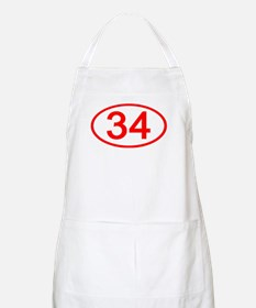 Number 34 Oval BBQ Apron