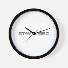 stay-weird-saved-gray Wall Clock