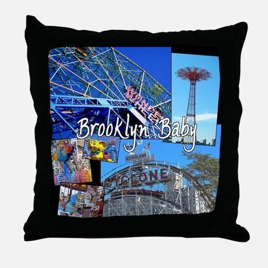 Coney Island Bklyn Baby Throw Pillow