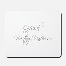 official-writing-uniform-scr-gray Mousepad