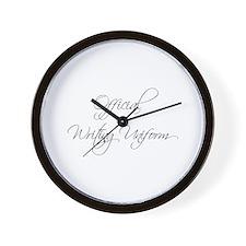 official-writing-uniform-scr-gray Wall Clock