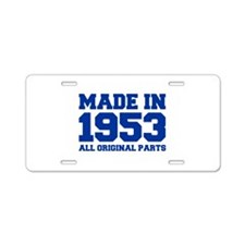 made-in-1953-fresh-blue Aluminum License Plate