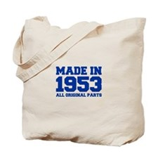 made-in-1953-fresh-blue Tote Bag