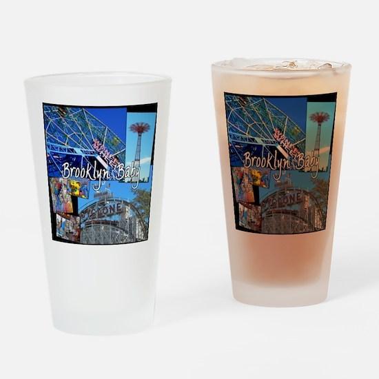 Unique Brooklyn Drinking Glass