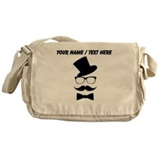 Personalized Mustache Face With Top Hat Messenger