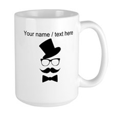 Personalized Mustache Face With Top Hat Mug