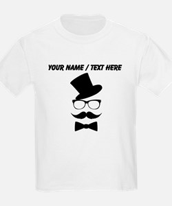 Personalized Mustache Face With Top Hat T-Shirt