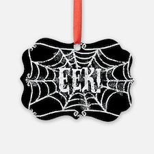 Halloween Cobweb Eek Ornament