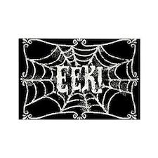 Halloween Cobweb Eek Rectangle Magnet