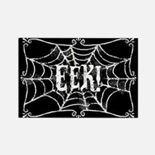 Halloween Cobweb Eek Rectangle Magnet