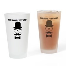Personalized Mustache Face With Top Hat Drinking G