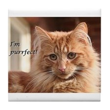 Cat - I'm purrfect! Tile Coaster