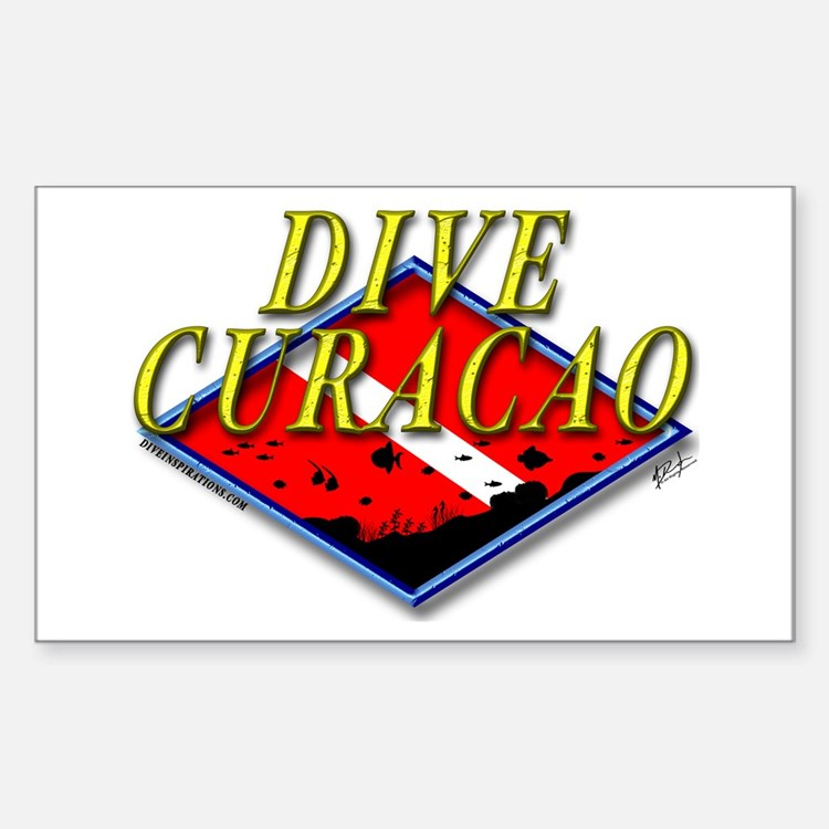 Dive Curacao Rectangle Decal