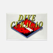 Dive Curacao Rectangle Magnet