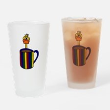 Duck Behind Coffee Mug Art Drinking Glass