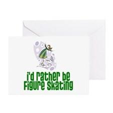 I'd rather be figure skating! Greeting Cards (Pack