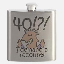 Recount 40th Birthday Flask
