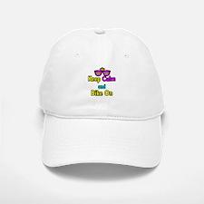 Crown Sunglasses Keep Calm And Bike On Baseball Baseball Cap