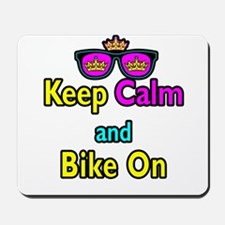 Crown Sunglasses Keep Calm And Bike On Mousepad