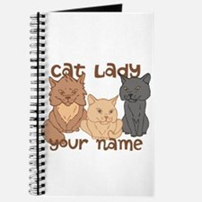 Personalized Cat Lady Journal