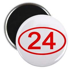 Number 24 Oval Magnet