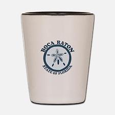 Boca Raton - Seashells Design. Shot Glass