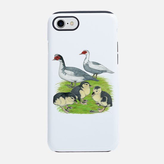 Muscovy Duck Blue Pied Family Iphone 7 Tough Case