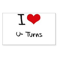I love U-Turns Decal