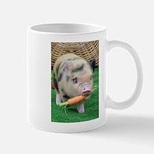 Micro pig with carrot Small Mug
