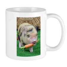 Micro pig with carrot Small Mug