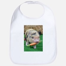 Micro pig with carrot Bib