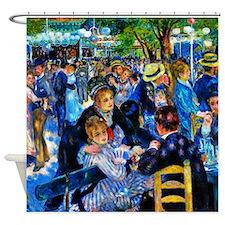 Renoir: Dance at Moulin d.l. Galette Shower Curtai