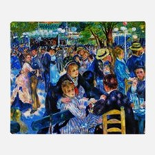 Renoir: Dance at Moulin d.l. Galette Throw Blanket